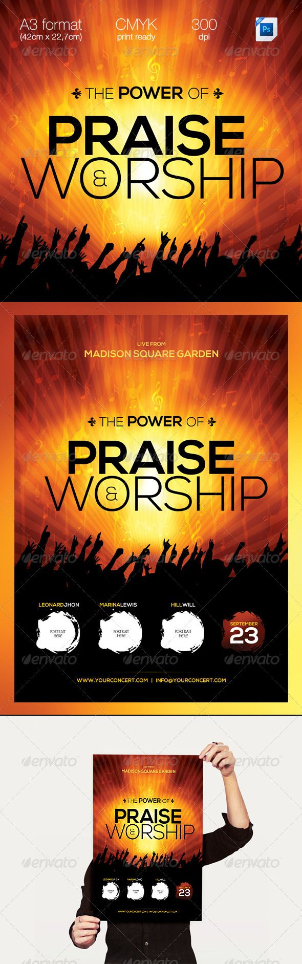 the power of praise worship a template warm flyer template the power of praise amp worship a professional clean modern amp elegant flyer template perfect for concerts