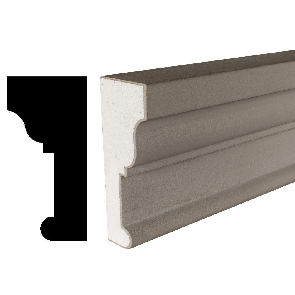 American Pro Decor Cemetrim Collection 4 1 4 In X 8 1 2 In X 4 In Eps Exterior Cement Coated Stucco Crown Moulding Sample Hdcr 5022 Samp The Home Depot Stucco Texture Crown Molding Stucco