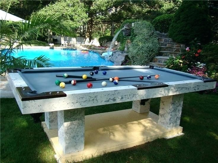 Superbe Pool Table Concrete Instead Of Slate Modern Concrete Pool Table Concrete Pool  Table Slate Im Thinking It Would Be A Blast To Play Outside