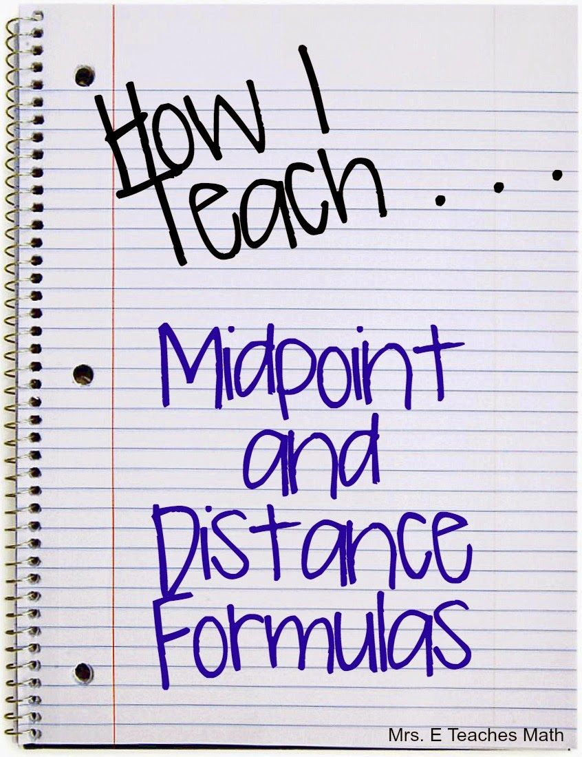 A cute idea for helping kids remember the midpoint and distance – Midpoint and Distance Formula Worksheet