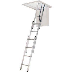 Werner Universal Telescoping Aluminum Attic Stairs Attic Renovation Attic Remodel Attic Bathroom
