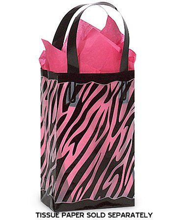 5 Multicolor Frosted Plastic Gift Bags