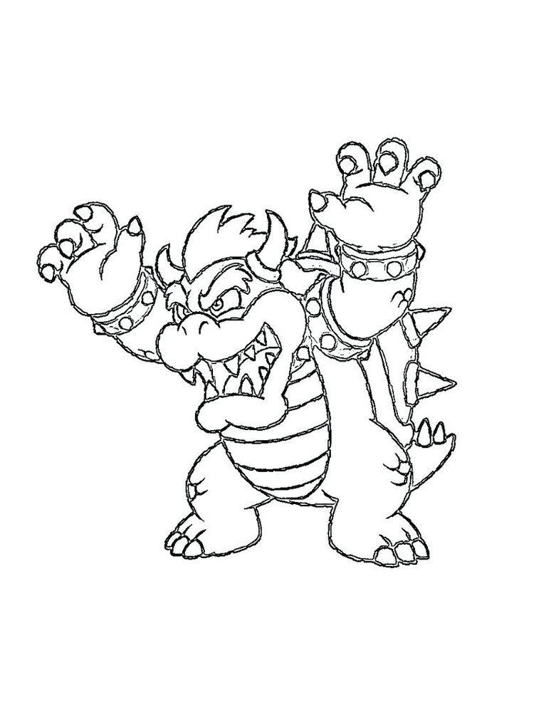 Super Mario Bowser Coloring Pages Print Super Mario Coloring Pages Mario Coloring Pages Cartoon Coloring Pages