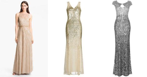 Glitter Bridesmaid Dresses | Glitter bridesmaid dresses, Sequin ...