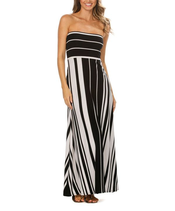 071d2c5a6b33 Look at this Black Stripe It Rich Strapless Convertible Maxi Dress - Women  on #zulily today!