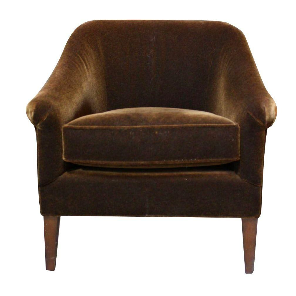 Mitchell Gold Claire Club Chair In Mohair | Chairish