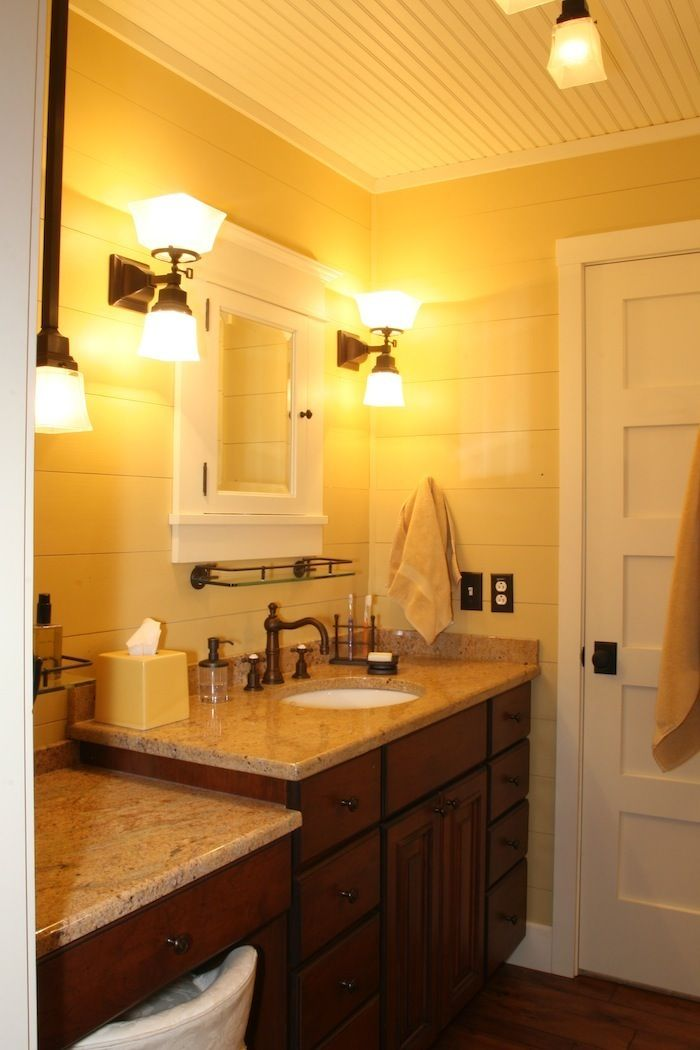 This Is The Master Bathroom Which Is In The Recreated 1920 S Cottage Located On Our Pin Boards Again The Homeowner Was Consist Home Transformation Custo