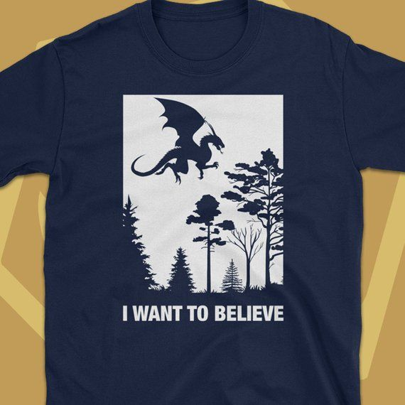 3e6960aa I Want To Believe Dungeons and Dragons Shirt D&D T-Shirt DnD Tee Tabletop  Pathfinder RPG Gaming Geek