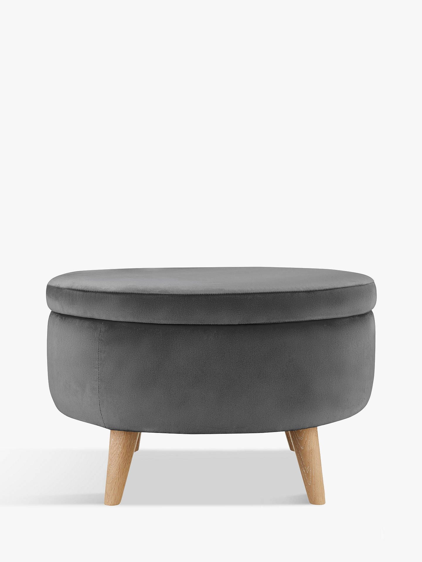 Fondue Footstool By Loaf At John Lewis Clever Velvet Smokey Grey