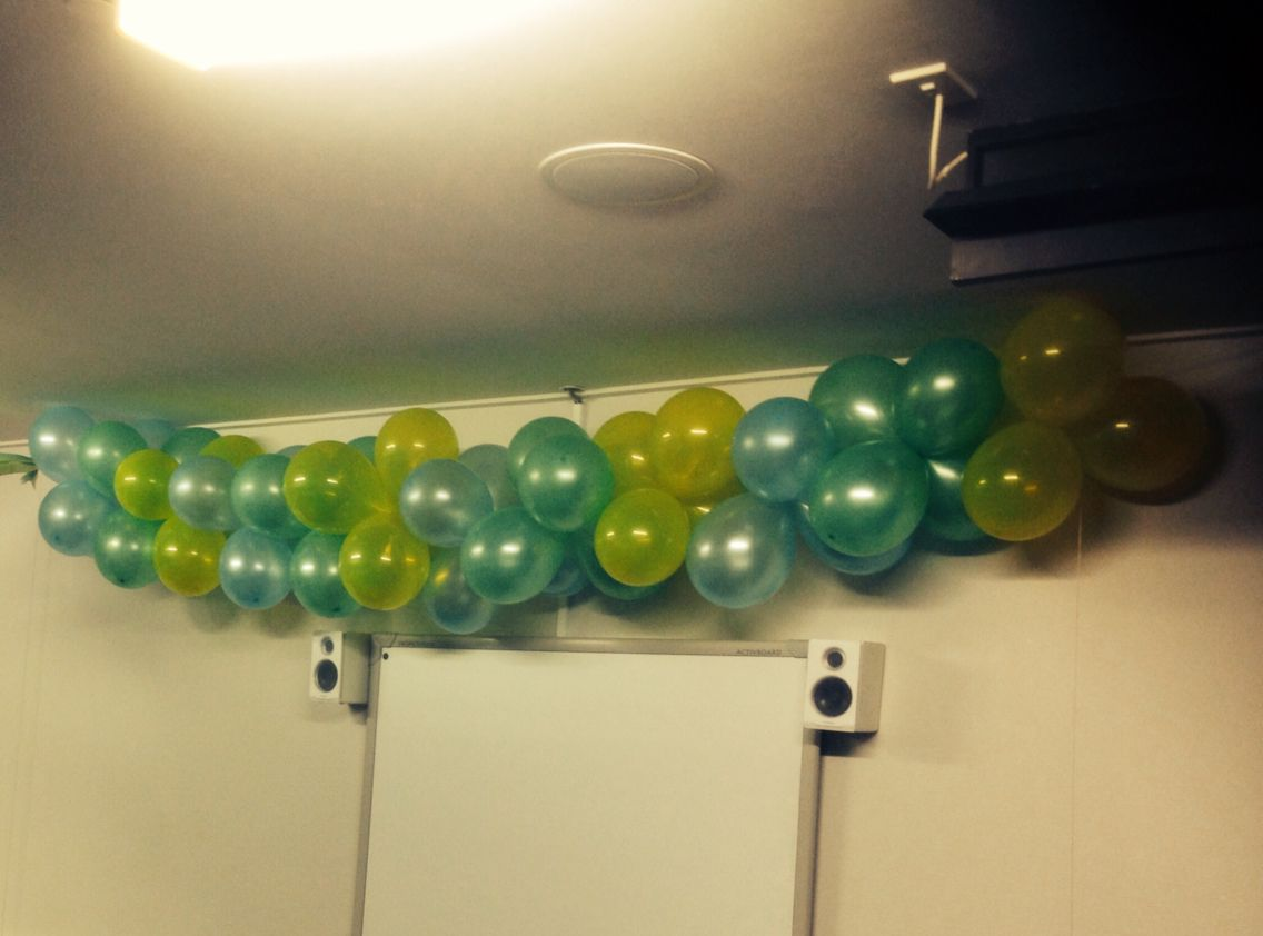 The balloon arch, really not that hard, worst part is blowing up the balloons.