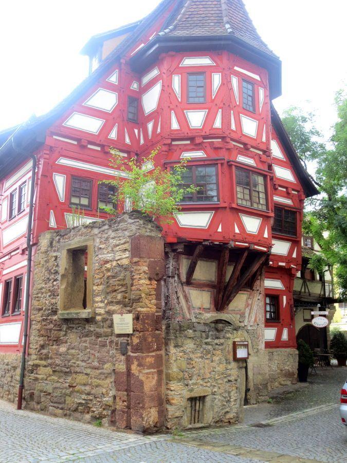 The oldest house in Stuttgart, Germany. It looks like a