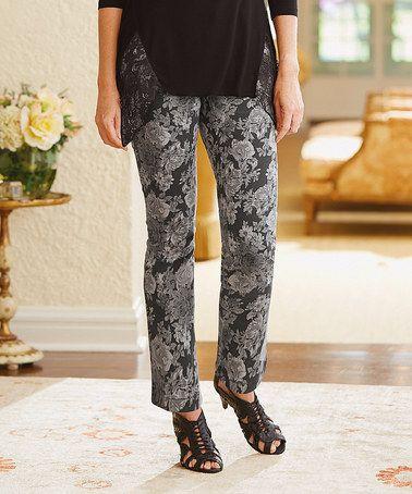 Romance Black Rockin Straight-Leg Jeans - Women & Plus by Monroe & Main #zulily #zulilyfinds