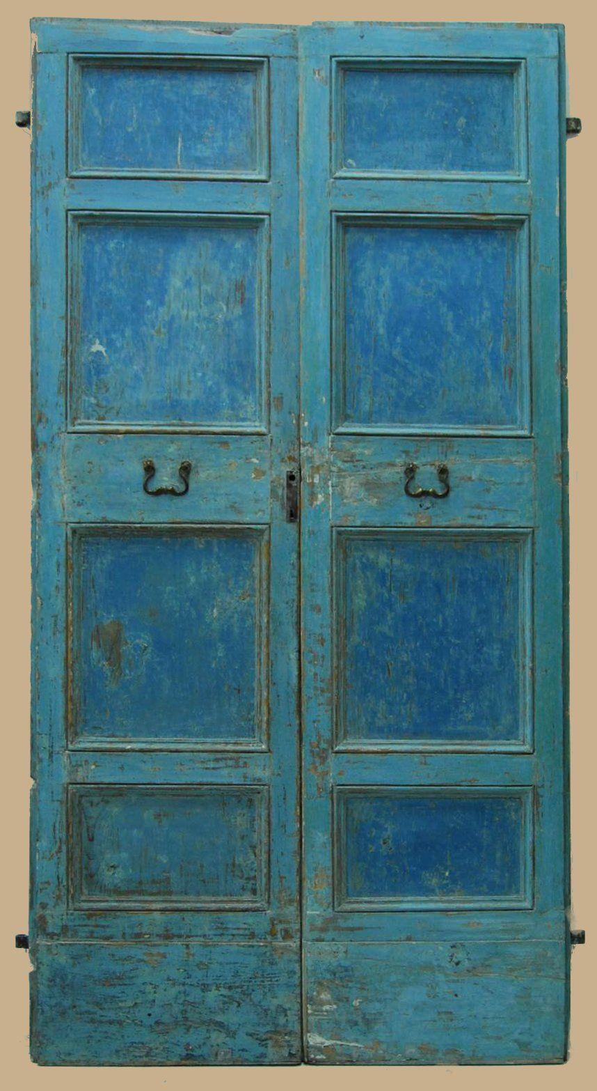 Foto Di Porte Antiche porta antica laccata marchigiana del '700 in abete | porte