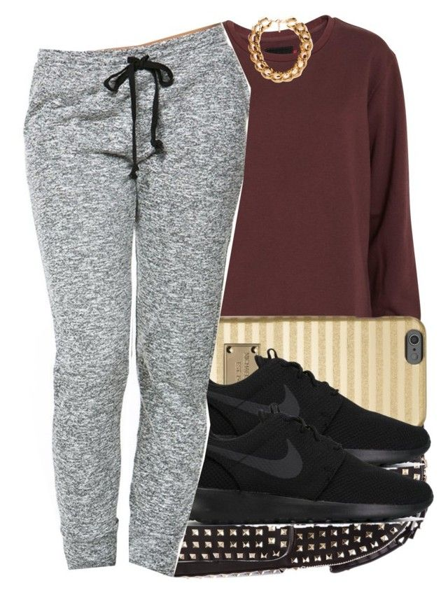 """8/1/2015"" by swagger-on-point-747 ❤ liked on Polyvore featuring Wood Wood, Valentino, MICHAEL Michael Kors, NIKE and Forever 21"