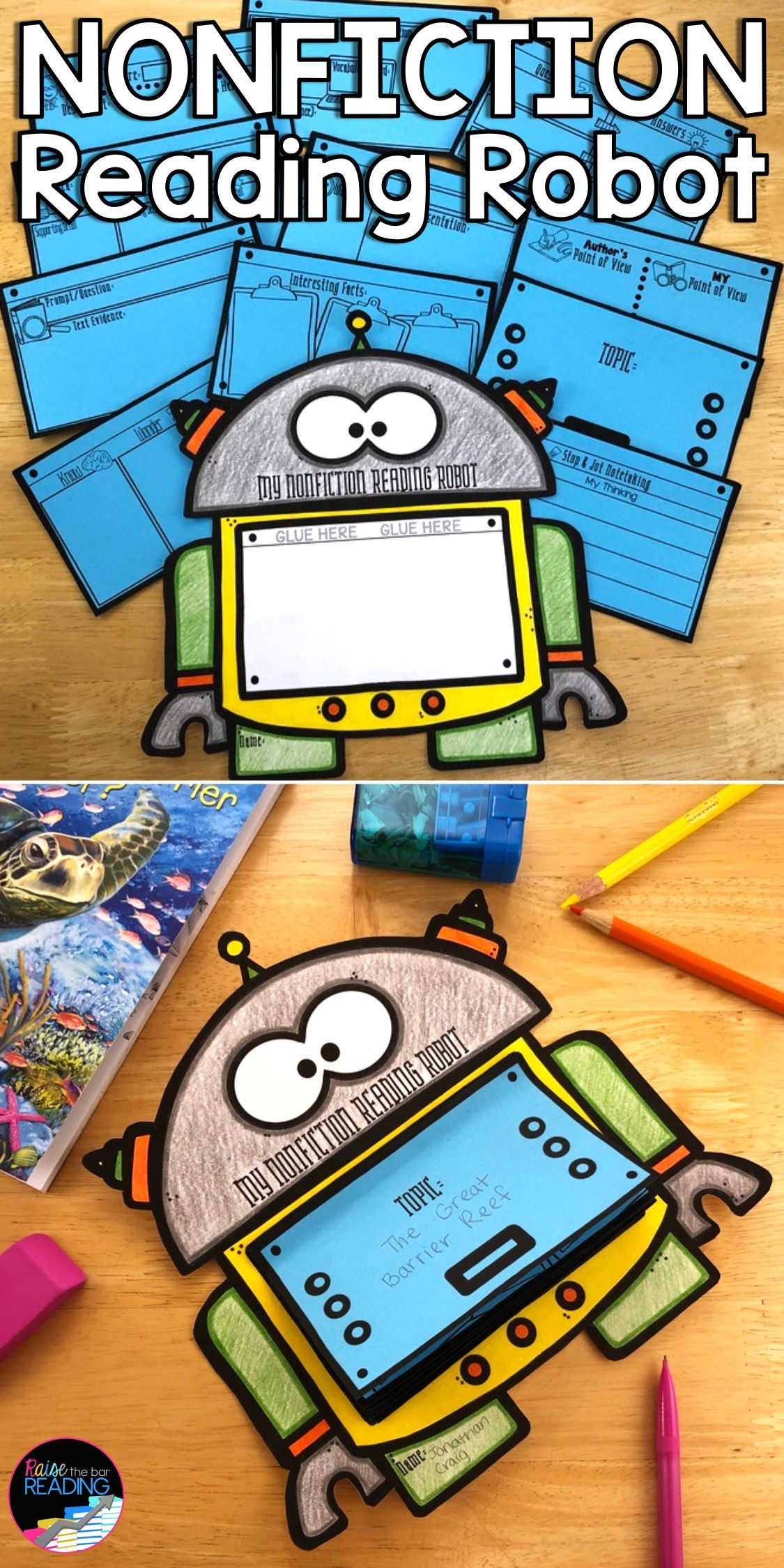 Nonfiction Reading Robot Nonfiction Reading Activities