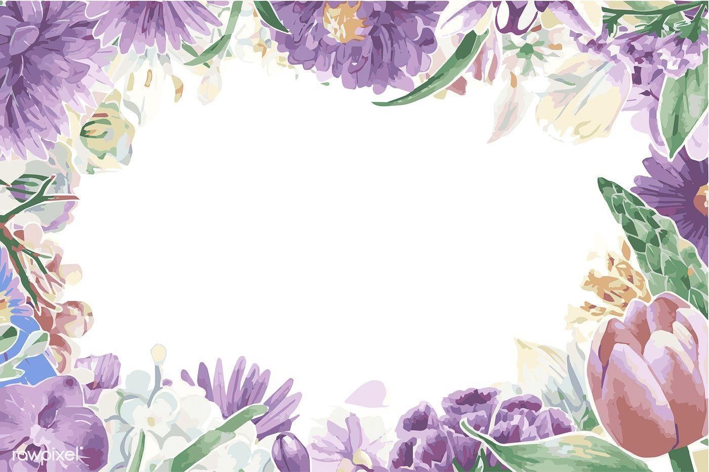 Download Premium Vector Of Vintage Floral Ornaments 380940 Floral Flower Frame Vintage Floral