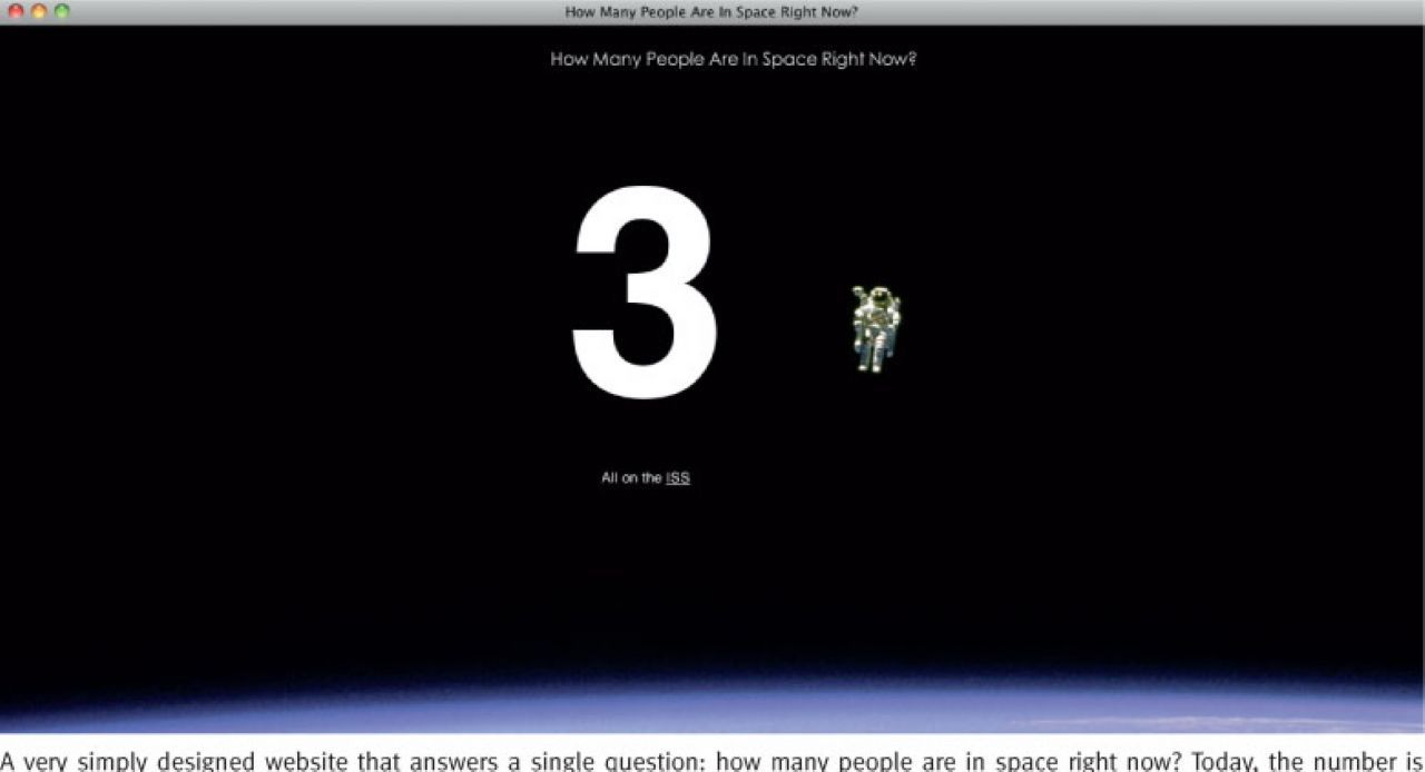 This is a website of How Many People Are In Space Right Now
