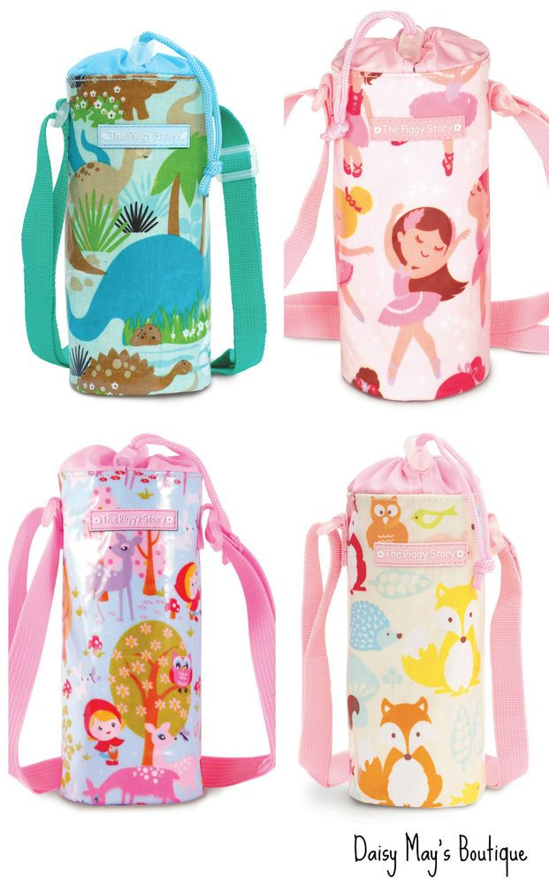 Water Bottle Holder For Kids Bag By The Piggy Story