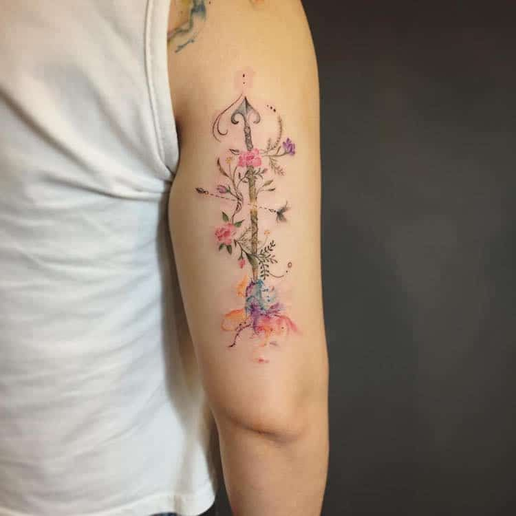 40 watercolor tattoos that beautifully transform bodies