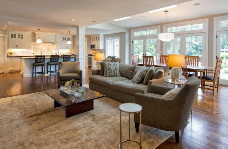soluzione per arredare salotti moderni con divano e poltrona marroni ...