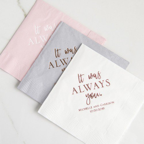 You Deserve The Best When It Comes To Your Special Day And That Includes Personalized Brida Wedding Napkins Personalized Custom Wedding Napkins Wedding Napkins