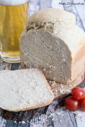 Würziges helles Bierbrot Brotbackautomat Rezept BBA schnell und einfach Brot selber machen