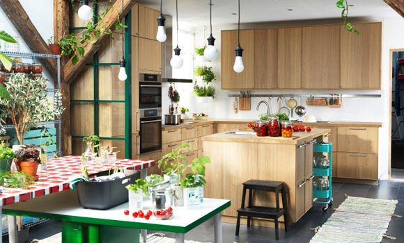 cuisine ikea metod ekestad en bois d co maison pinterest cuisine bois d co maison et bois. Black Bedroom Furniture Sets. Home Design Ideas