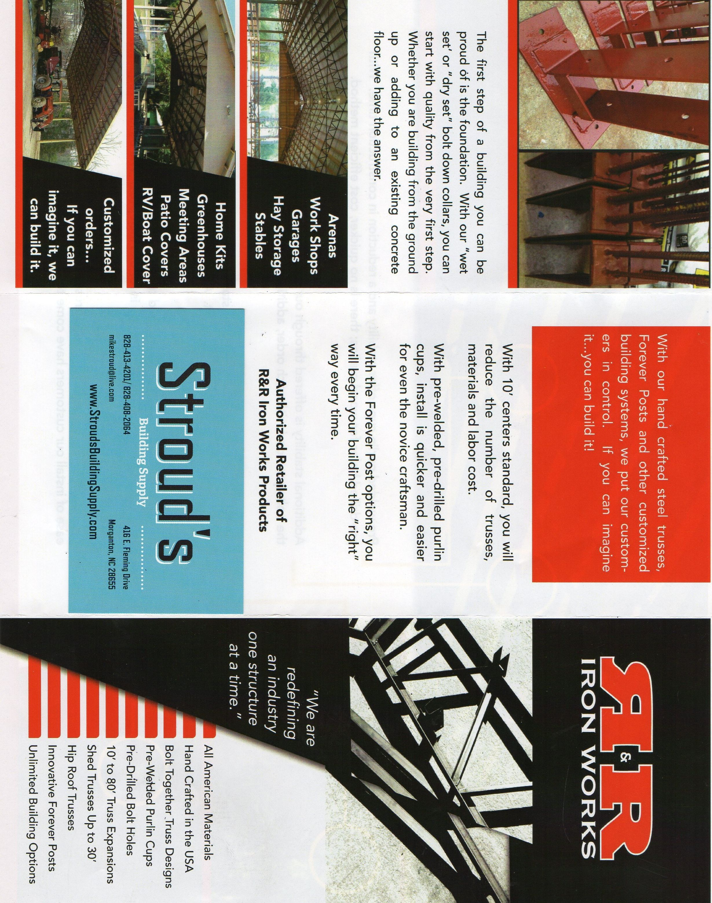 Here At Strouds Building Supply We Are An Authorized Retailer Of R Iron Works Products