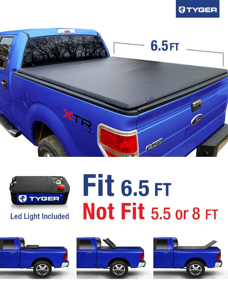 Tg Bcf Tri Fold Truck Bed Tonneau Cover   Ford F  Excl Raptor Series Styleside   Bed For Models Without Utility Track System