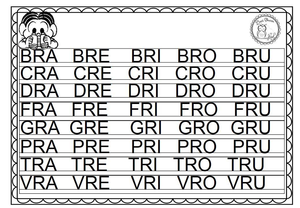 Cartazes Silabas Complexas Ilustrado Para Imprimir E Baixar Em