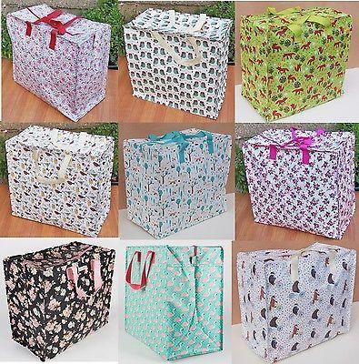 Jumbo Laundry Bags Zipped Reusable Large Strong Shopping Storage Bag Uk Seller 2 52