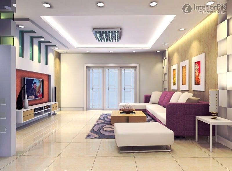 Ceiling design in living Room shows more than enough about how to