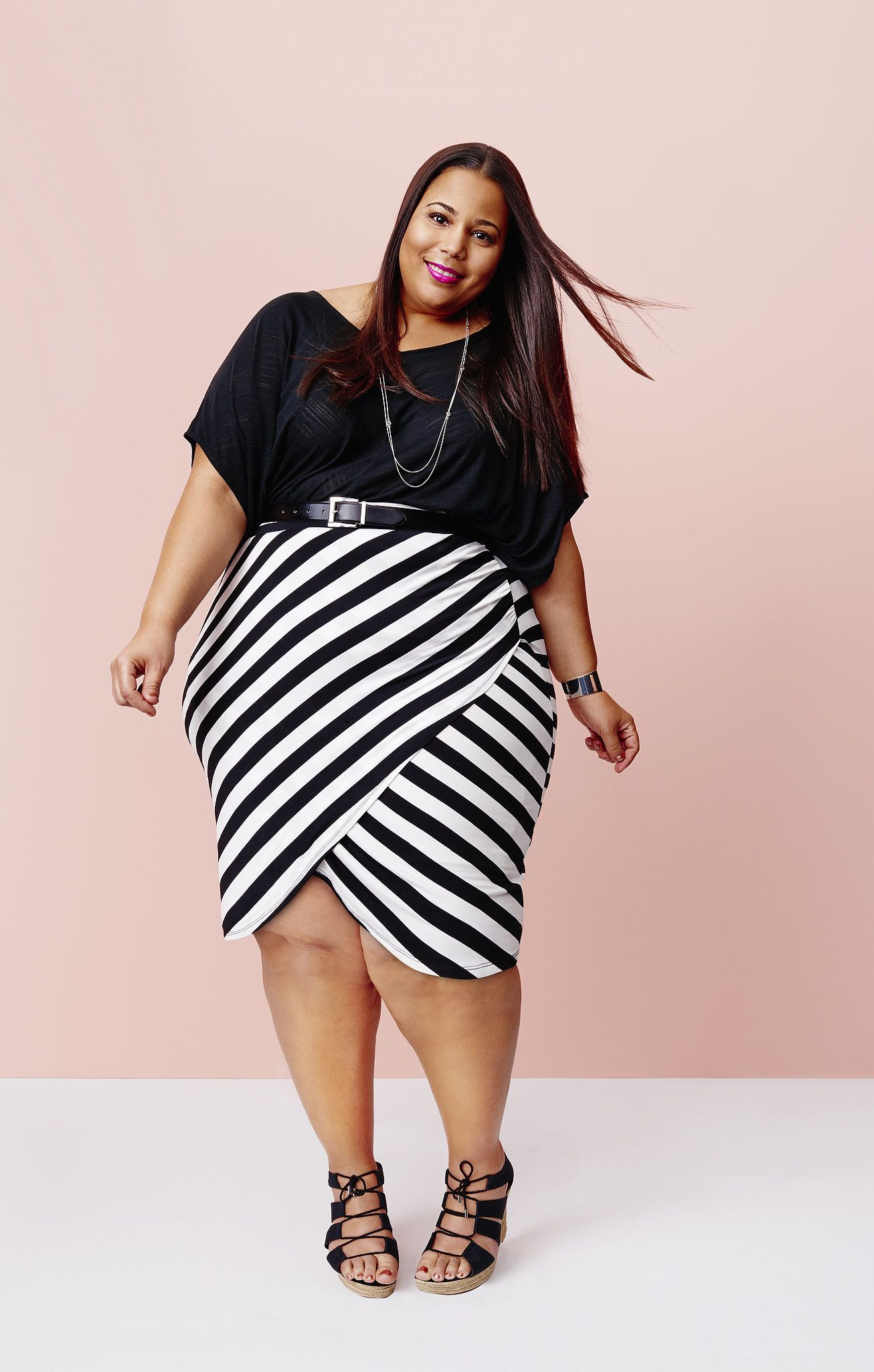 plus size black pencil skirt with black sweater - Google Search ...