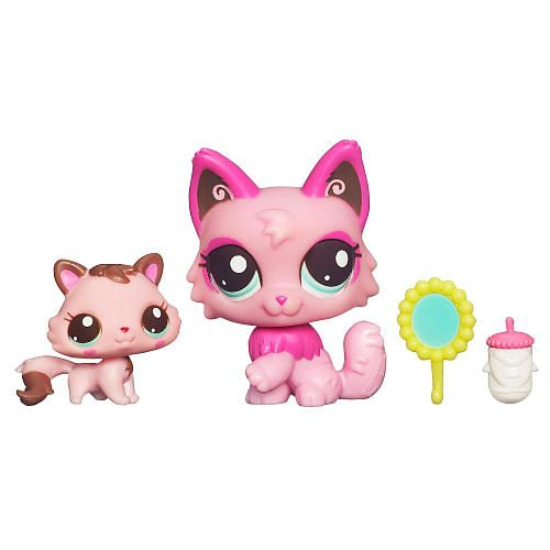 Littlest Pet Shop Baby And Mommy Pet Cat Hasbro Toys R Us
