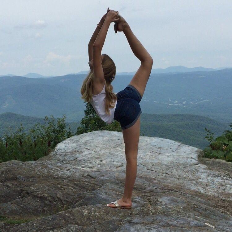 dancer scorpion gymnast gymnastics cheerleader flyer mountains pretty artsy flexible mountaintop