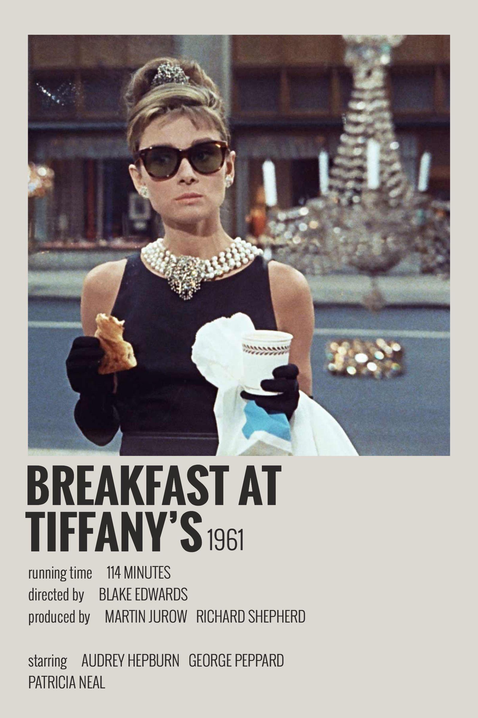 Alternative Minimalist Movie/Show Polaroid Poster - Breakfast at Tiffany's