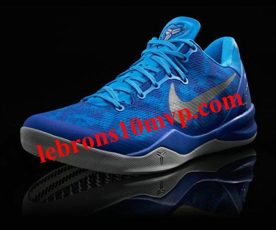 100% authentic aff44 57863 Nike Kobe 8 Blue Glow Strata Grey Game Royal Duke 555035 400