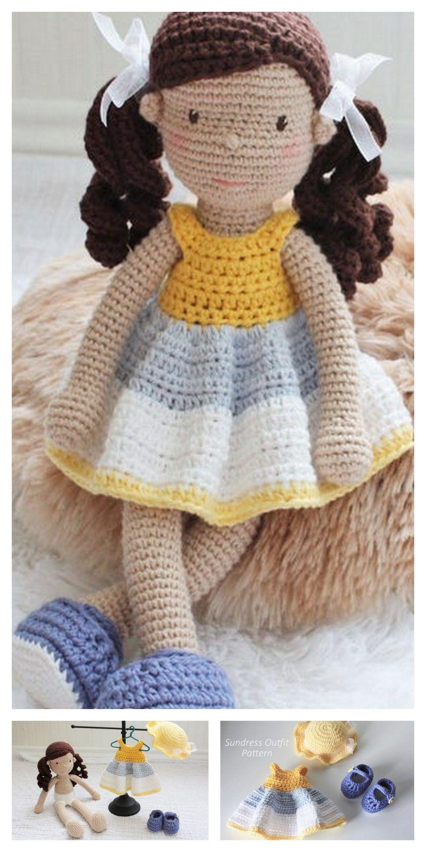 Crochet doll PATTERN, AMIGURUMI pattern, amigurumi doll pdf ... | 1740x870
