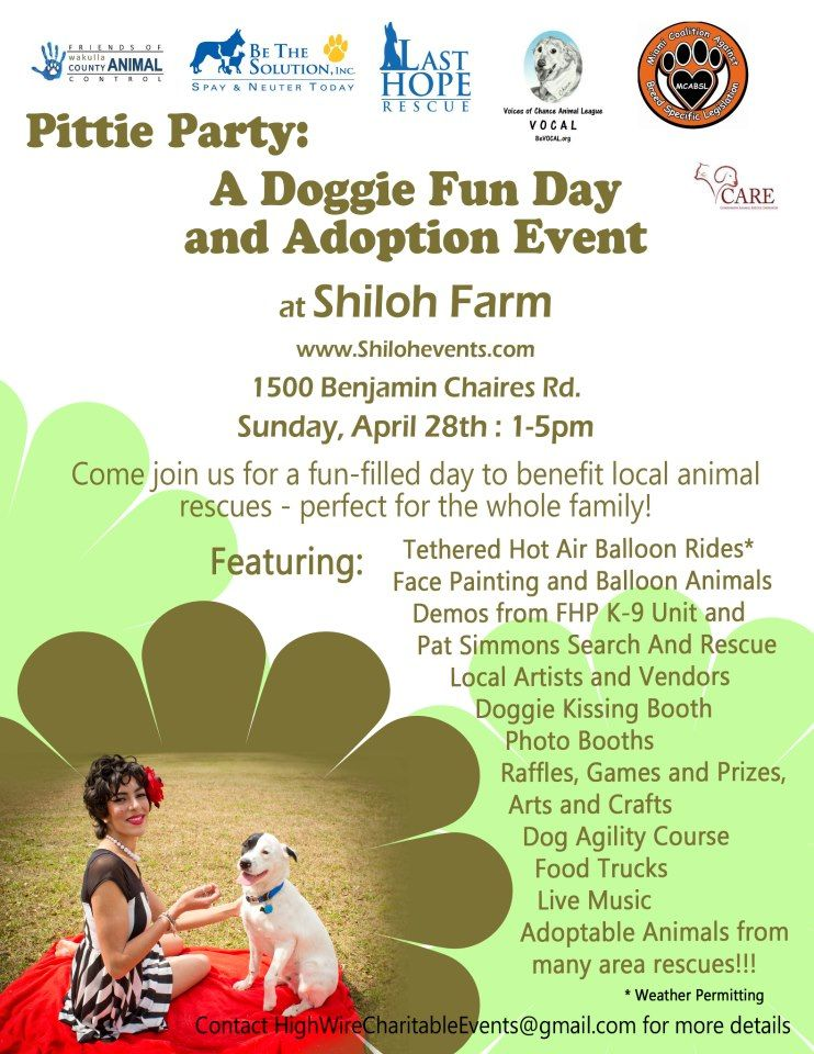 A doggie fun day and adoption event!