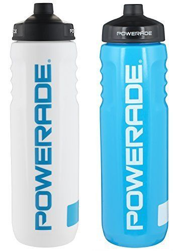 b9d80d2c8b Powerade perfect squeeze water bottle 32 oz 2 Pack White/Blue #Powerade