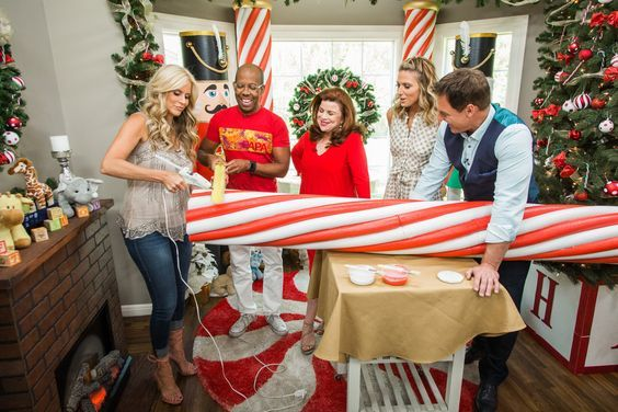 Paige Hemmis Is Getting Your House Decorated For The Holidays With This Fun Diy Using Pool N With Images Candy Christmas Decorations Christmas Props Candy Cane Decorations