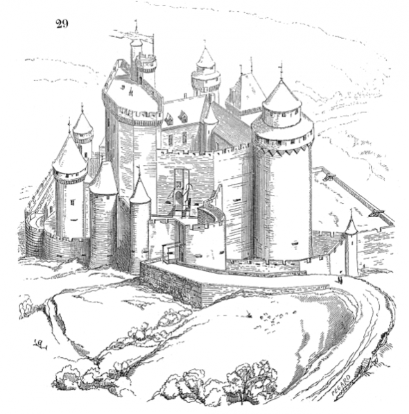 Free Printable Castle Coloring Pages For Kids And Adults Castle Coloring Page