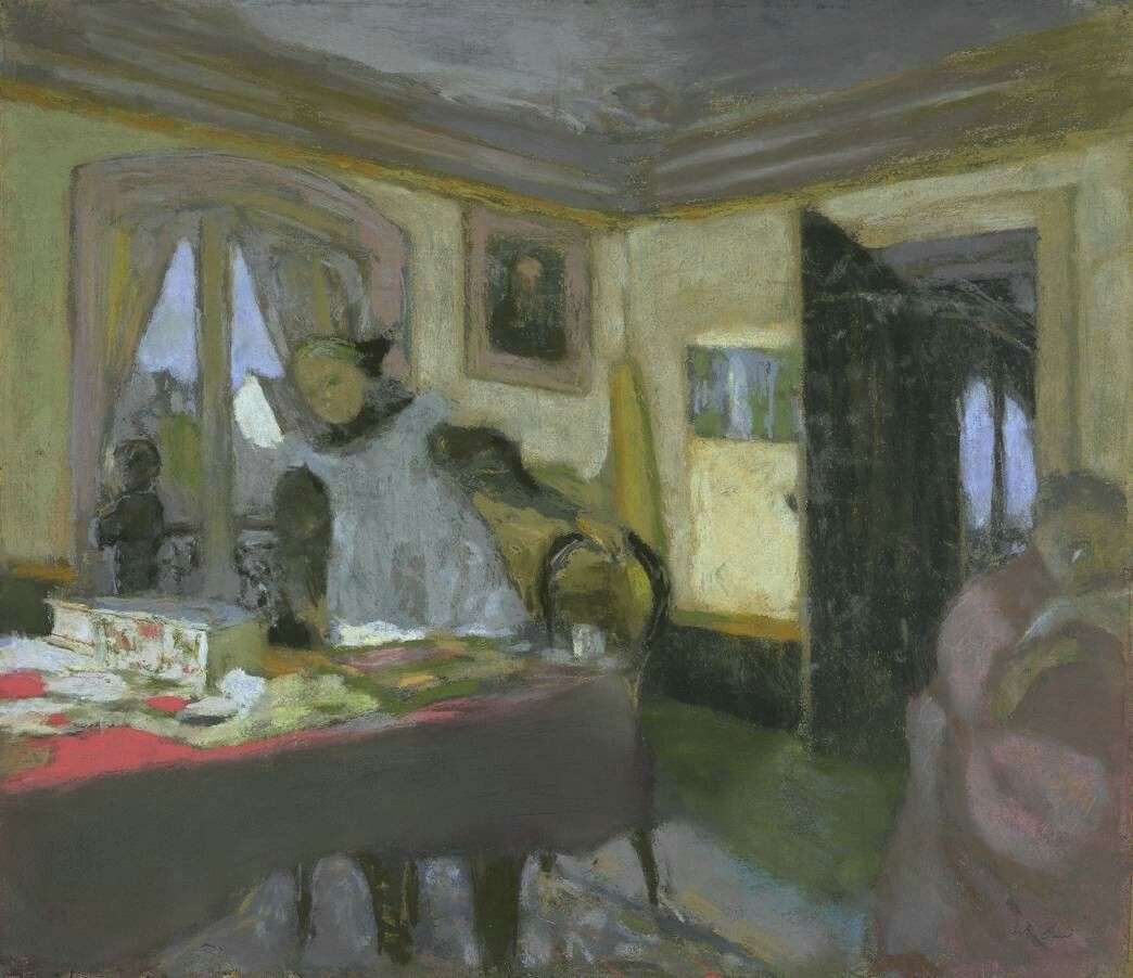 Édouard Vuillard (French, 1868-1940), The Laden Table [La Table encombrée], c. 1908. Pastel on paper on board, 47 x 54.6 cm.