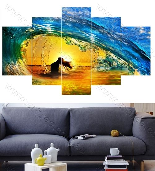 Girl and Water splash   Wall art prints Gold Coast   Cheap canvas