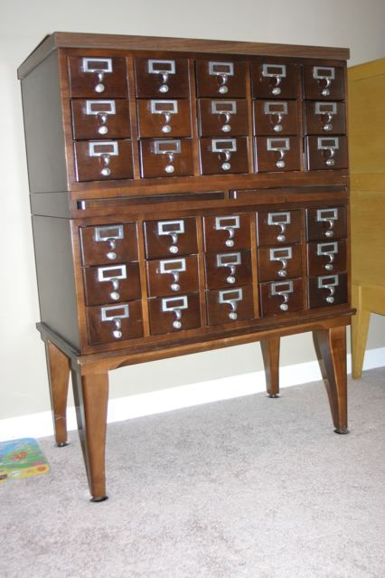 We'd have a card catalog like this in our library. Library CardsChina  CabinetVintage ... - We'd Have A Card Catalog Like This In Our Library. For The Home