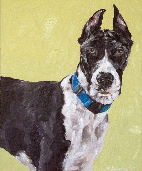 CUSTOM Pet Portrait Oil Painting 16x20  Pet Memorial by DogColor