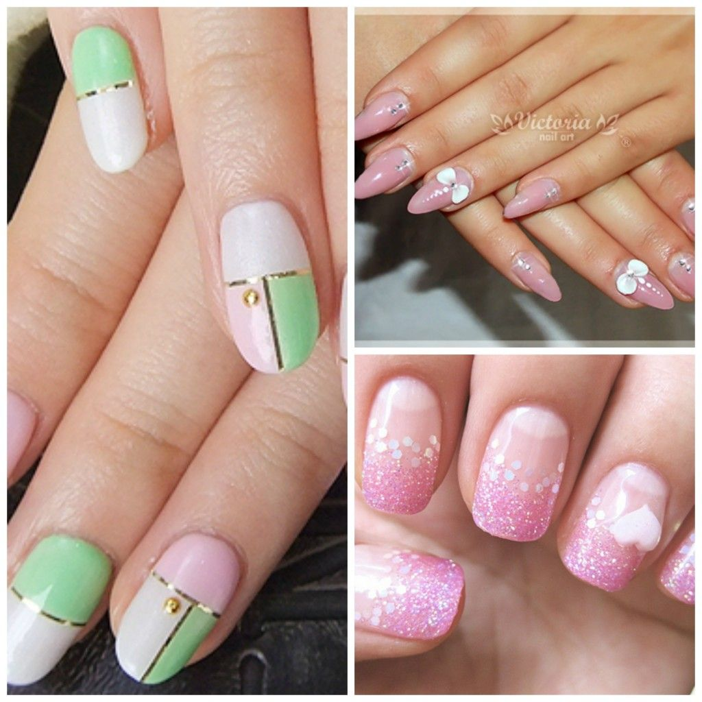 ongle gel deco nail art modeles ongles pinterest