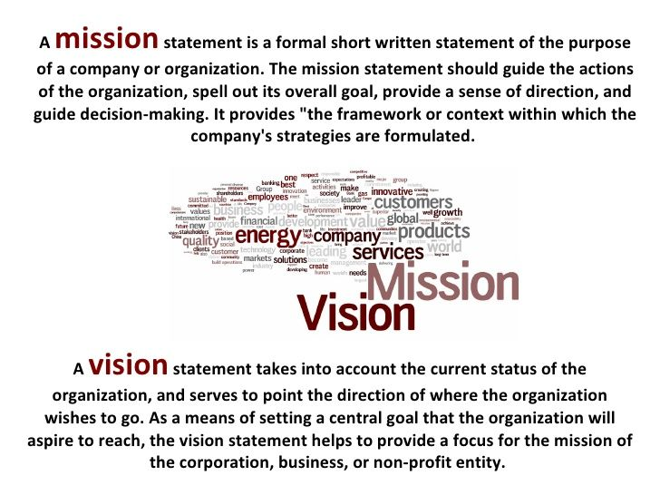 Vision statement examples for business yahoo image for Mission essential contractor services plan template
