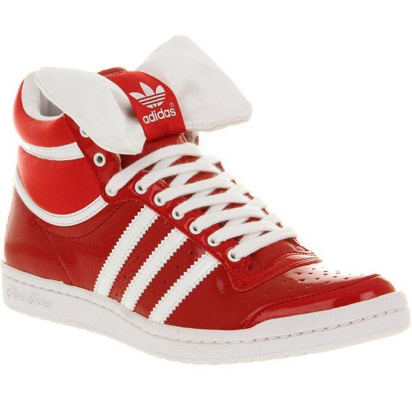 Adidas Top ten hi sleek black red bow ($70) ❤ liked on