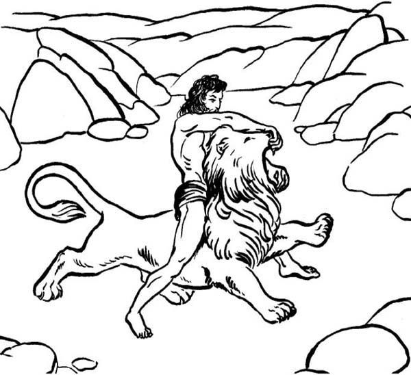 Samson And Delilah Coloring Pages Coloring Home Coloring Pages